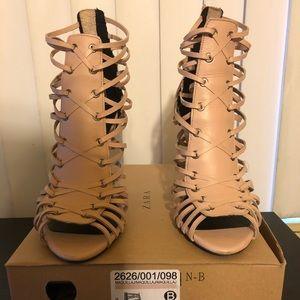 Zara Sandal Heels/ 3 inch heel/ Used Once